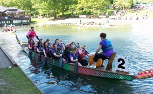 The Jones Myers dragonboat team cast off for Marton House Children's Hospital