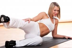 Fitness series - Sportive woman exercising